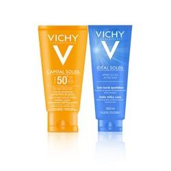 Coffret Vichy Ecran solaire Crème Onctueuse + Après Soleil OFFERT