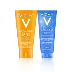 Coffret Vichy Ecran solaire Anti-Brillance + Après Soleil OFFERT