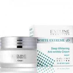 Eveline White Extreme 3D crème de jour éclaircissante Anti rides 50ml