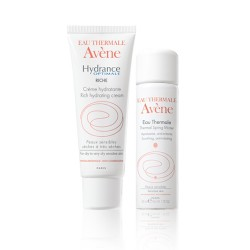 COFFRET AVENE HYDRANCE OPTIMALE RICHE + SPRAY D'EAU THERMALE AVÈNE OFFERT